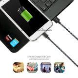 Câble usb micro androïde en nylon du tressage 1m2m3m pour le téléphone mobile de Samsung
