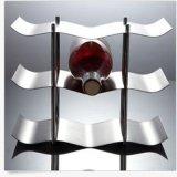 Supporto fluttuato di memoria del vino dell'acciaio inossidabile della cremagliera del vino rosso delle 9 bottiglie