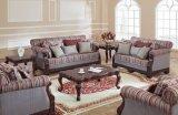 Sofà tradizionale del tessuto impostato per la mobilia della casa dell'oggetto d'antiquariato del salone