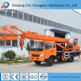 強力な移動式まっすぐなバスケットが付いているブームによって使用されるクレーントラック