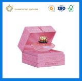 Rectángulo de empaquetado de la estera del negro del papel del perfume lleno de lujo de la cartulina (con la hoja caliente de la insignia)