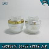 50g Pearl White Cosmetics Crème De Verre Vase Vide Avec Toile Acrylique 50ml