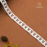 백색에 의하여 뜨개질을 하는 아프리카 도매 자카드 직물 나일론 코드 레이스