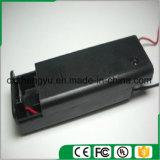 support de la batterie 1AA avec les fils, la couverture et commutateur rouges/noirs de fil