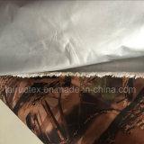 L'argento ha ricoperto di tessuto di seta naturale stampato camuffamento per il tessuto della tenda