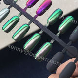 Espejo cromado brillante Shimmer Camaleón de polvo de pigmento de la Perla Glitter manicura