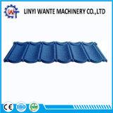 Azulejo de material para techos cubierto piedra del enlace del metal de la promesa de la calidad