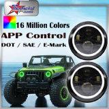 Scheinwerfer Winkel-Halo RGB-LED für JeepWrangler