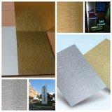 Feuilles enduites de polyester composé en aluminium de constructeurs