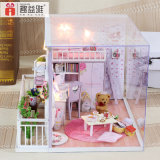 Maquette en bois Bricolage cadeau maison de poupée