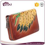 Цветастая Multi повелительница Кожа Бумажник Портмоне изменения функции, выбитый напечатанный бумажник