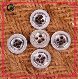 Botões do ouro da imitação boton Preto quatro furos boton