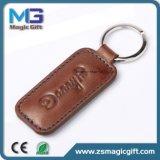 Keyring de cuero modificado para requisitos particulares ventas al por mayor del metal