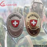 Emblemas de couro feitos sob encomenda das forças armadas do metal do suporte da fábrica