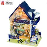Симпатичная деревянная дом куклы игрушки DIY с мебелью