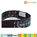 Wristband RFID do festival da tela NTAG216 de 13.56MHz NFC