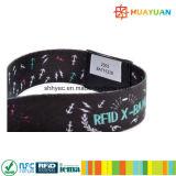 13.56Мгц NFC NTAG216 тканого браслет RFID для событий