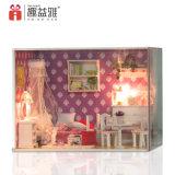 Vente à chaud de la Chine de l'assemblage cadeau maison de poupée jouet en bois