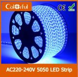 Alta tira flexible de la luz del brillo AC220V SMD5050 LED