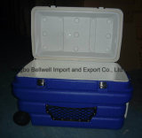 90L Grand Boite de refroidissement de transport de poissons de chauffe-nourriture en plastique avec roue