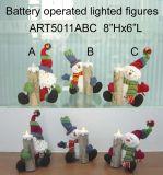 Sleighing Сана и снежную бабу рождественских подарков LED-3техпомощь.