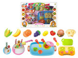 Pretend Play Toy Kids Kitchen Set Cuttable Food (H3119221)