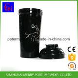 Haute qualité 500ml Plastique Bouteille de boisson sport bouteille d'eau de secoueur