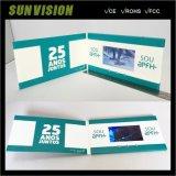 三LCDは郵便利用者の名刺のビデオパンフレットを表示する
