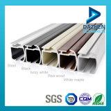 Carril de la cortina del perfil de aluminio 6063 con diversos colores