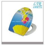 Weicher naher Duroplast gedruckter schöner Toiletten-Sitzdeckel