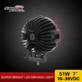 """7 """" 51W indicatore luminoso di azionamento luminoso eccellente del tondo LED"""