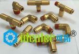 Empujar del PUNTO hacia adentro las guarniciones de cobre amarillo con la certificación (DOT-PC6-N01)
