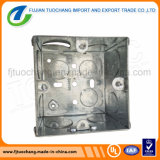 A caixa de tomada elétrica de uma pista caixa de metal embutida
