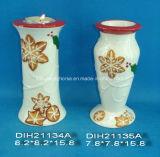 Basamento rotondo di ceramica dipinto a mano della candela