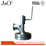 En acier inoxydable de membrane de la vanne inférieure réservoir sanitaires