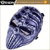 Воинская игра полной стороны Airsoft защищает безопасную черноту мычки маски