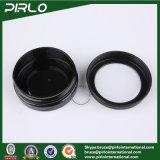 do animal de estimação preto da cor de 30g 1oz frasco plástico com o tampão do indicador de alumínio