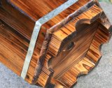 El crisol de madera del plantador de la flor de la hierba del barril del roble sólido para el patio reclamó