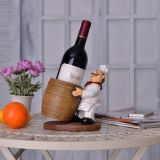 Supporto di bottiglia del vino del cuoco unico della resina per la decorazione domestica