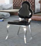 Edelstahl-Schürhaken-Stuhl, PU, die Stuhl, klassische Form speist Stuhl, Kombination speist Stuhl D-40 speist