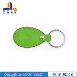 Derma personalizzato Fudan F08 RFID Keycard di cuoio per la libreria