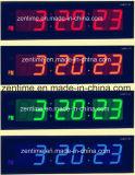 Grande horloge de mur colorée de Digitals DEL