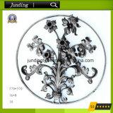 El panel decorativo /Rosette de la flor del hierro labrado para la puerta ornamental del hierro del pasamano del hierro