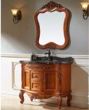 Europäischer angestrichener rote Eichen-Badezimmer-Speicher-Eitelkeits-Schrank (GSP14-008)