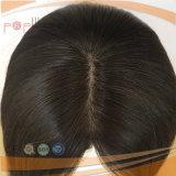 Peluca de las mujeres de la tapa de la piel del pelo de Remy de la Virgen (PPG-l-01070)