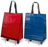 Sacchetto pieghevole riutilizzabile portatile del carrello di acquisto della maniglia con le rotelle