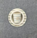 La vaisselle en bambou normale de fibre d'audit de BSCI a placé pour des gosses