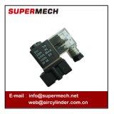 Válvula solenóide de plástico 2p DC 24VAC 110V 220V