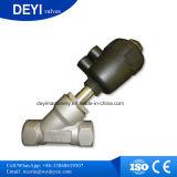 Ángulo operadas neumática con actuador de válvula de asiento de plástico