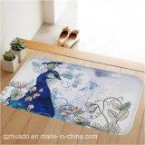 59*39cmパターン浴室の滑り止めのマットの珊瑚の羊毛の敷物のメモリ泡の浴室の敷物のマットの床のカーペット